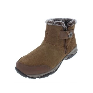 Easy Spirit Womens Eliria Ankle Boots Suede Faux Fur Lined
