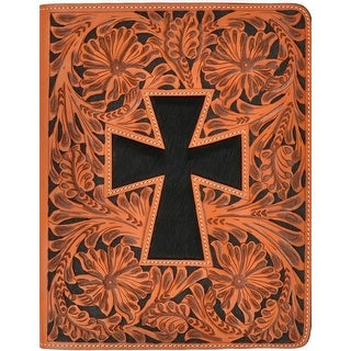 3D Western iPad Case Cover Cross Leather 8 x 10 Natural G273