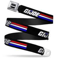 Gi Joe Stripe Logo Full Color Black Red White Blue Gi Joe Stripe Logo Black Seatbelt Belt