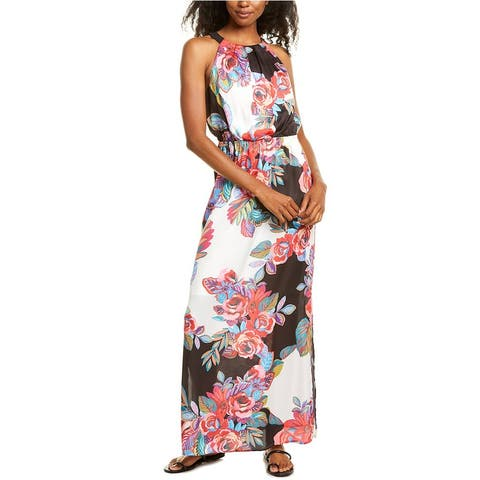 Adrianna Papell Bold Floral Maxi Dress