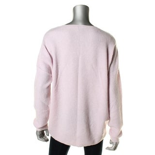 Private Label Womens V Neck Waffle Knit Pullover Sweater