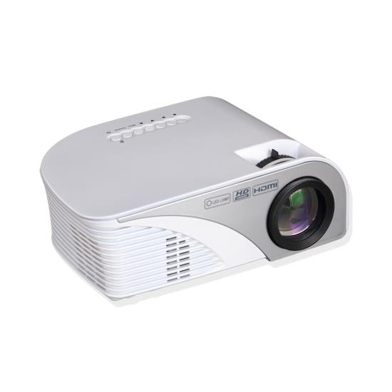 Digital Multimedia Projector with 1080p Support, Up to 120'' Display Screen, HDMI + USB Reader