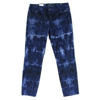 Lauren Ralph Lauren NEW Blue Women's 10 Tie-Dye Skinny Cropped Jeans