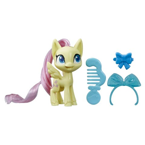My Little Pony Fluttershy Potion Pony Figure -- 3-Inch Yellow Pony Toy With Brushable Hair, Comb, And Accessories