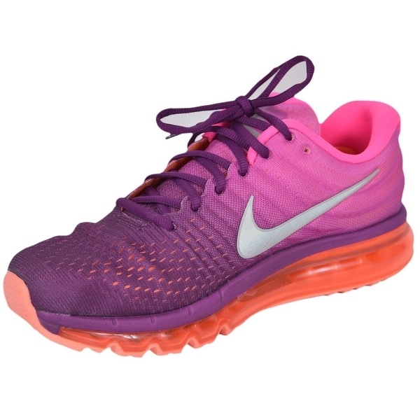 cfdad4d402a55 Shop NIKE AIR MAX 2017 Ombre Pink Women s Running Tennis Shoes ...