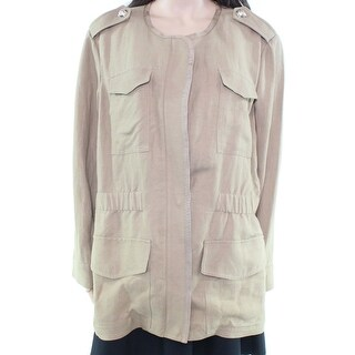 Tommy Hilfiger NEW Beige Womens Size 18W Plus Military Full-Zip Jacket