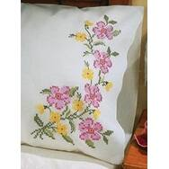 """Fragrant Floral - Stamped Pillowcase Pair For Embroidery 20""""X30"""""""