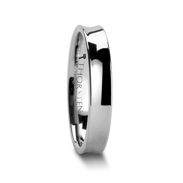 THORSTEN - CHELSEA Concave Tungsten Carbide Ring - 4mm