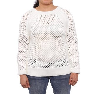 Michael Michael Kors Long Sleeve Crew Neck Mesh Sweater Women Sweater