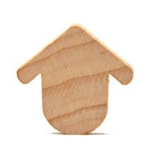 """250 Pcs of 1-3/16"""" Robin's Rest Birdhouses Cut Outs 1-3/16"""" wide x 1-1/8"""" tall x 1/8"""" thick"""