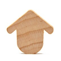 """75 Pcs of 1-3/16"""" Robin's Rest Birdhouses Cut Outs 1-3/16"""" wide x 1-1/8"""" tall x 1/8"""" thick"""
