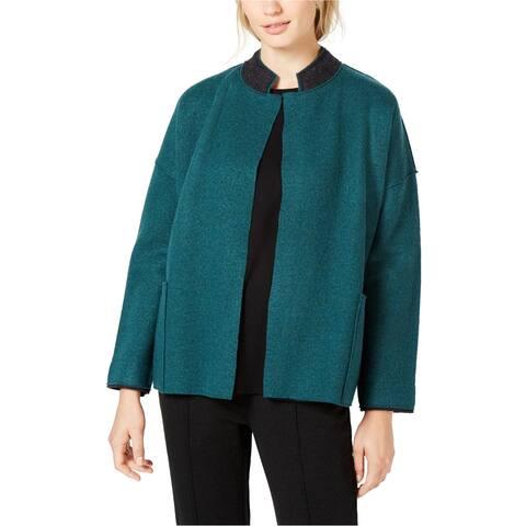 Eileen Fisher Womens Boiled Wool Jacket