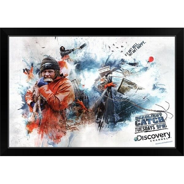 """""""Deadliest Catch (TV) (2009)"""" Black Framed Print"""