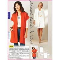 Shawl Cardi & Vest-XS-S-M-L-XL -*SEWING PATTERN*