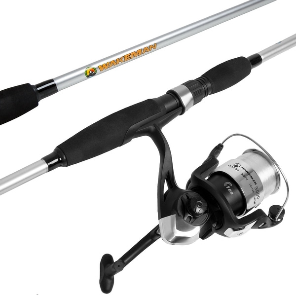 Fishing Rod and Reel Combo, Spinning Reel Fishing Pole, Fishing Gear for Bass and Trout Fishing – Strike Series by Wakeman