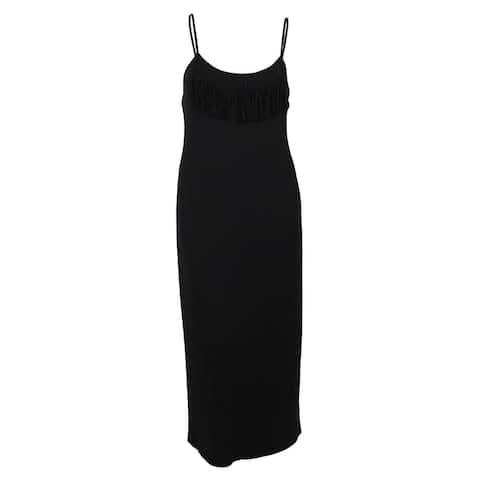 Miken Women's Spaghetti- Strap Fringe Dress Cover ups