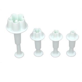 Baking Plastic Flower Blossom Pattern Pastry Cake Plunger Cutter Set 8 in 1