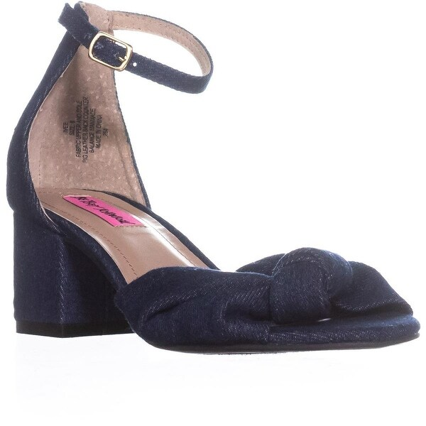 Betsey Johnson Ivee Ankle Strap Sandals, Denim