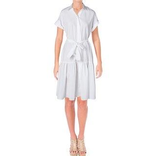 Lauren Ralph Lauren Womens Dikelta Cocktail Dress Short Sleeves Knee-Length