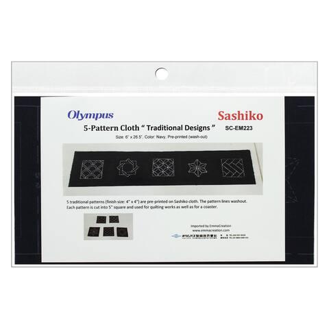 Olympus Sashiko Cotton Cloth 6x26.5 Pre Print Navy