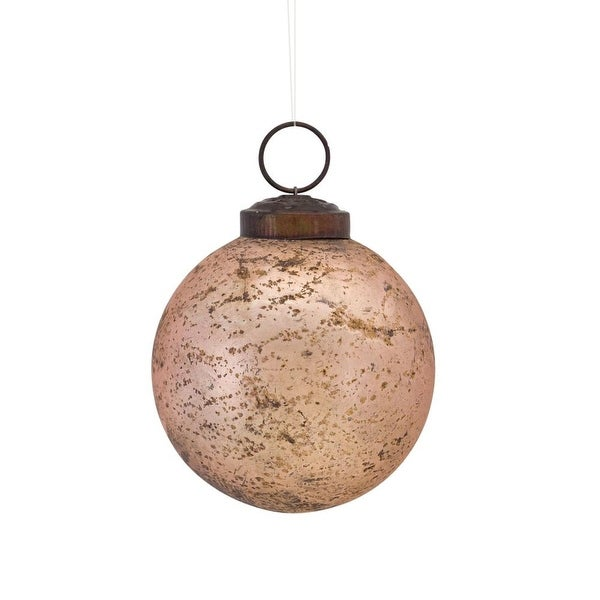 Shop Club Pack of 12 Rose Gold Colored Shatterproof Finish Glass Christmas  Ball Ornaments 3