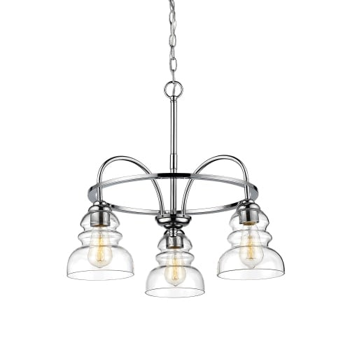 Millennium Lighting 7343 Brighton 3 Light 22 Wide Chandelier With Gl Shades Free Shipping Today 23433208