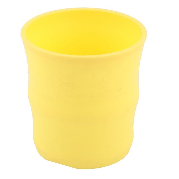 Apartment Plastic Plant Bamboo Succulent Holder Flower Pot Container Yellow