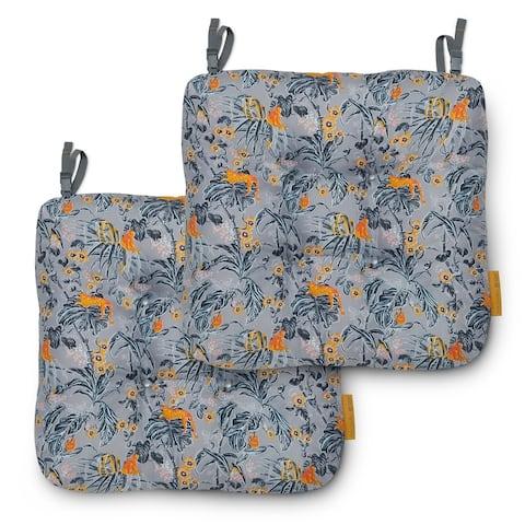 Vera Bradley Water-resistant Patio Chair Cushions (Set of 2)