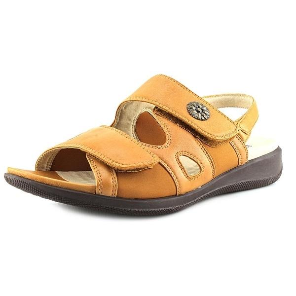Softwalk Tanglewood Women Open-Toe Leather Tan Fisherman Sandal