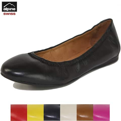 Alpine Swiss Womens Shoes Ballet Flats Genuine Leather Comfort Loafer
