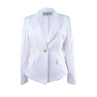 Tahari ASL Women's Petite Peak-Collar Blazer - White