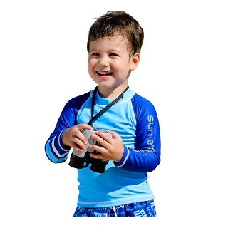 Sun Emporium Baby Boys Ocean Blue Navy Long Sleeve Rash Guard