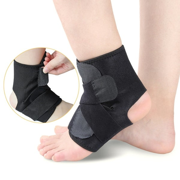 660dec7e56 Open-Heel Compression Ankle Arch Support Brace Sleeve Foot Protective Wrap  One Size