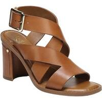 Franco Sarto Women's Cymbal Strappy Sandal Tan Texas Veg Leather