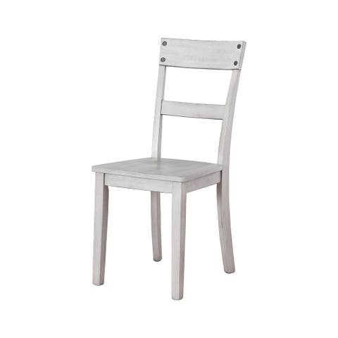 Loratti Casual Dining Room Side Chair Set of 2, White