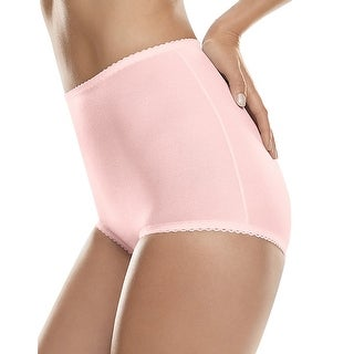 Hanes Shaper Brief 2-Pack - Size - M - Color - Light Pink