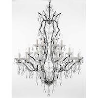Swarovski Crystal Trimmed Chandelier Lighting 19th Baroque Iron & Crystal Chandelier Lighting