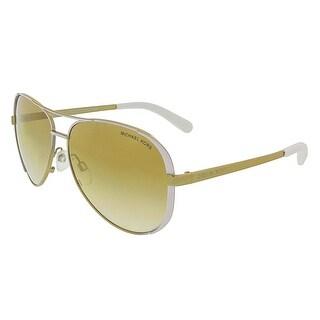Michael Kors MK5004 CHELSEA 10166E White/Gold Aviator Sunglasses - 59-13-135