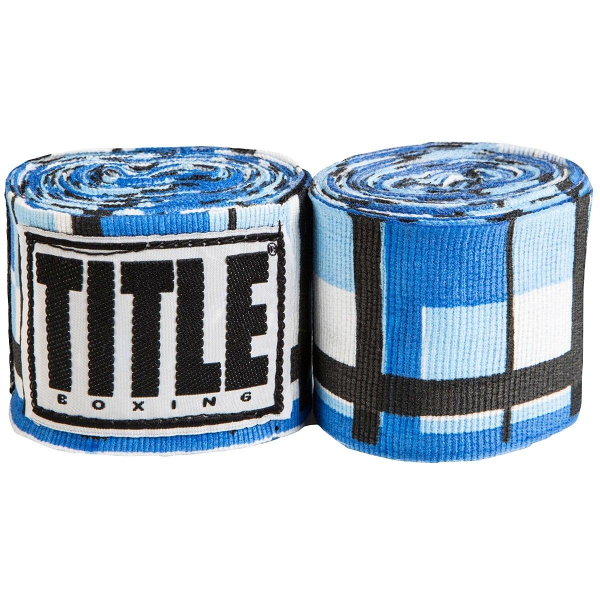 """Title Boxing 180/"""" Semi Elastic Mexican Handwraps-Grey"""