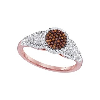 1/3Ctw Diamond Micro-Pave Bridal Engagement Ring 10K Rose-Gold