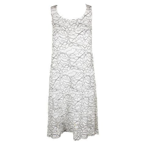 Signature By Robbie Bee Plus Size Ivory Sleeveless Lace Shift Dress 1X