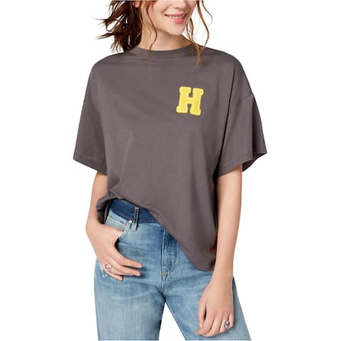 Peace Love World Womens Happyville Embellished T-Shirt