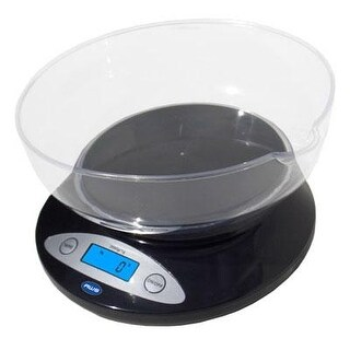 American Weigh Scales 5Kbowl-Bk Digital Kitchen Scale With Removable Bowl, Black