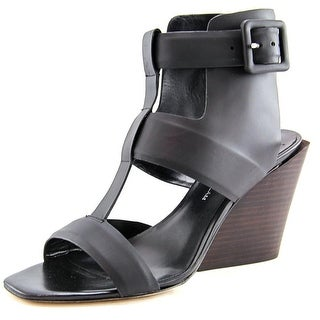 Derek Lam Campbell Women  Open Toe Synthetic Black Wedge Sandal