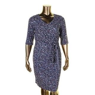NYDJ Womens Casual Dress Jersey Printed