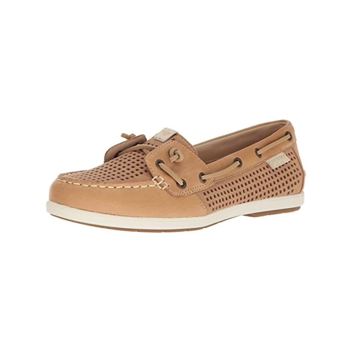 Sperry Womens Coil Ivy Boat Shoes Perforated Non Marking Tan 8 5 Medium B M 8 5 Medium B M