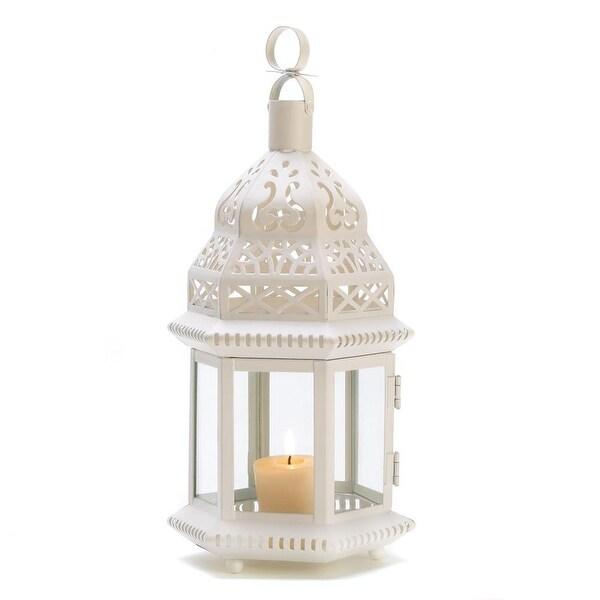 Modern White Moroccan Style Lantern