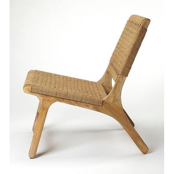Strange Shop Modern Woven Jute Rectangular Accent Chair Light Evergreenethics Interior Chair Design Evergreenethicsorg