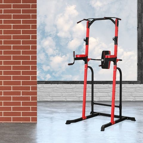 Zenova Weight capacity 550 lbs Power Tower Pull-up Bars Workout Dip Stands - N/A