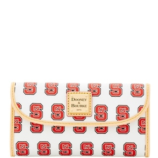 Dooney & Bourke NCAA NC State Continental Clutch (Introduced by Dooney & Bourke at $128 in Jan 2016) - White